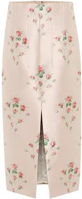 Brock Collection Floral-jacquard skirt