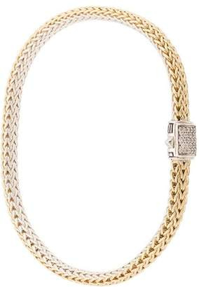 John Hardy 18kt yellow gold and sterling silver reversible Classic Chain diamond bracelet
