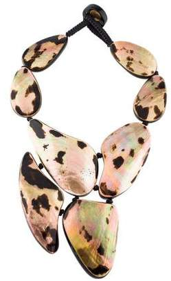 Viktoria Hayman Mother of Pearl & Resin Statement Necklace