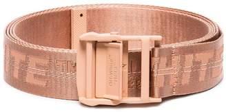 Off-White salmon pink logo industrial belt