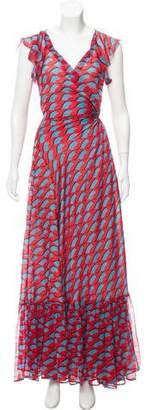 Diane von Furstenberg Printed Maxi Dress