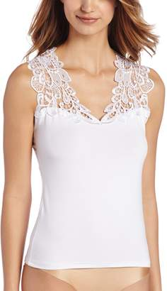 Arianne Women's Teri Guipure Lace Shoulder and Back Trim Camisole