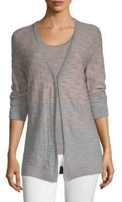 St. John Burnout Cardigan