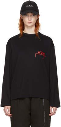 A-Cold-Wall* SSENSE Exclusive Black Long Sleeve Logo T-Shirt