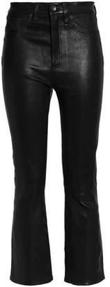 Rag & Bone Cropped Leather Bootcut Pants