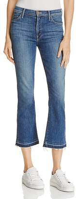 MOTHER Insider Crop Fray Jeans in Medium Kitty $210 thestylecure.com