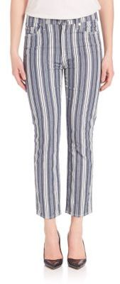 7 For All Mankind Striped Straight Ankle Pants $199 thestylecure.com