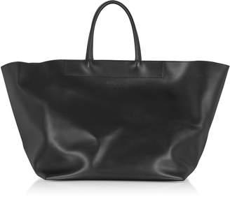 MM6 MAISON MARGIELA Mm6 Maison Martin Margiela Black Leather Tote Bag
