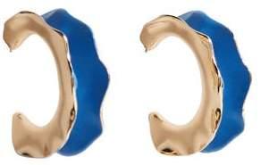 MANGO Embossed hoop earrings