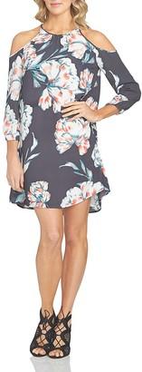 1.STATE Floral Print Cold-Shoulder Dress $119 thestylecure.com