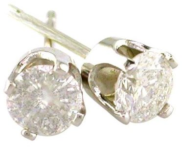 14K Gold 1/5 Carat Diamond Stud Earrings