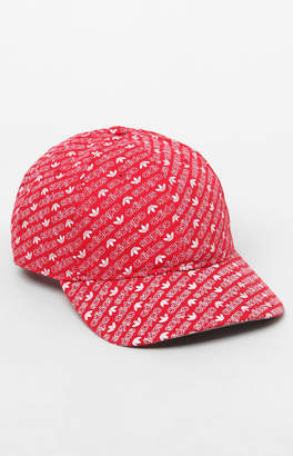 adidas All Over Print Red Strapback Dad Hat