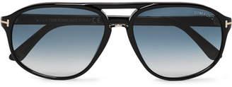 Tom Ford Jacob Aviator-Style Acetate Sunglasses