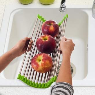 Chef Buddy Wide Folding Drain Sink Rack - Stainless Colander Drying Tray Sink