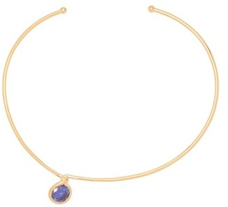 Completedworks - The Retired Ballerina Gold Vermeil Necklace - Womens - Light Blue