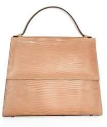 Alice + Olivia Hunting Season Lizard Leather Top Handle Bag