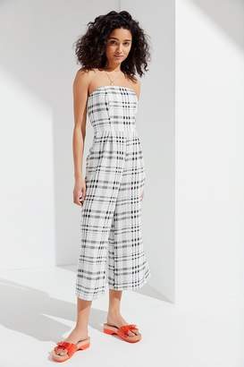 TWIIN Incite Strapless Plaid Jumpsuit