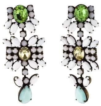 Dannijo Crystal & Resin Drop Earrings