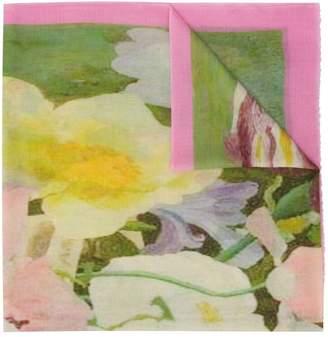 N.Peal floral print pashmina scarf