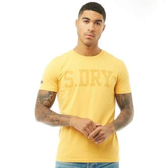 Superdry Mens Heritage Wash Short Sleeve T-Shirt Ochre Gold