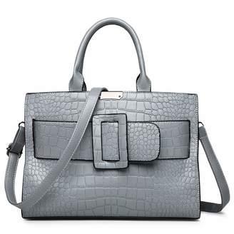 650f9605cb KUNZITE Women s Alligator PU Leather Handbag Rectangle Portable Hand Bag  Fashion Messenger Bag for Ladies and