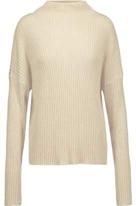Dion Lee Open-Back Ribbed-Knit Cotton-Blend Turtleneck Sweater