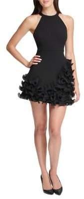 GUESS Ruffled A-line Mini Dress