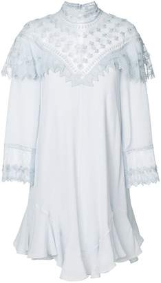 Chloé embroidered panel flowing mini dress