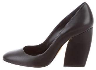 Pierre Hardy Round-Toe Leather Pumps