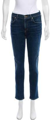 Gold Sign Mid-Rise Skinny Jeans w/ Tags