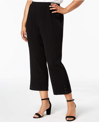 Alfred Dunner Barcelona Plus Size Cropped Crepe Pants