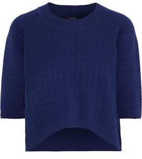 Raoul Cropped Waffle-Knit Cotton Sweater