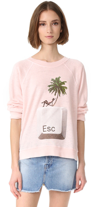 Wildfox Escape Sweatshirt $108 thestylecure.com