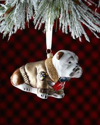 Joy To The World Collectibles English Bulldog with Bomber Jacket Christmas Ornament