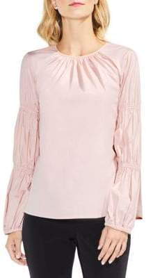 Vince Camuto Long-Sleeve Poplin Blouse
