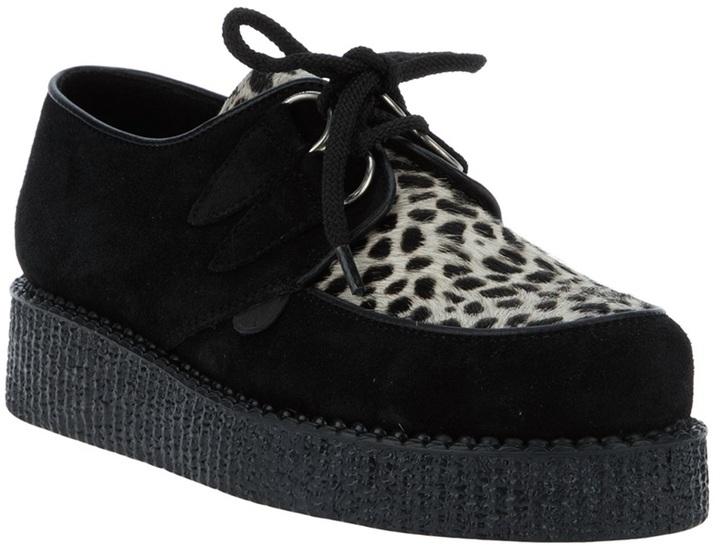 Underground lace up wedge shoe