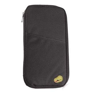 Lifeshop Travel Wallet Envelope Flip Cover Case Organizer Pouch Bag For Men & Women-Black