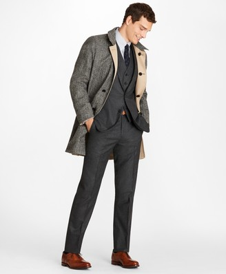 Brooks Brothers Reversible Gabardine-Herringbone Twill Trench Coat