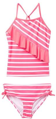 Nautica Striped Flutter Tankini Two-Piece Swimsuit (Big Girls)