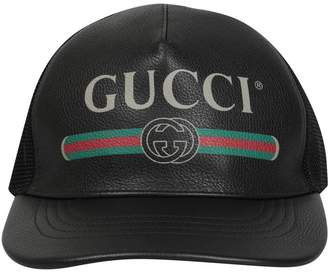 Gucci Print Leather Hat