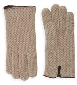 Portolano Textured Honeycomb Knit Gloves