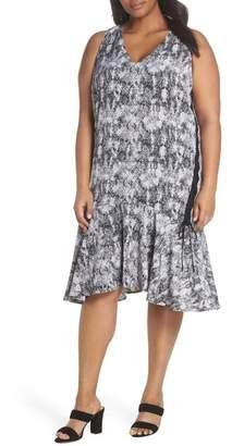 Sejour Lace-Up Drop Waist Dress (Plus Size)
