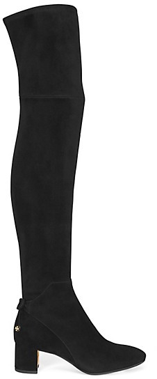 Tory Burch Laila Suede Over-The-Knee Boots