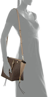 Iconic American Designer Signature Monogrammed Satchel Bag