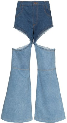Telfar cut-out boot cut jeans