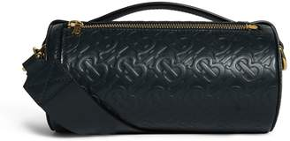 Burberry Leather Monogram Barrel Bag