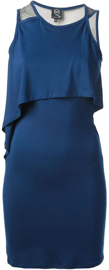 McQ by Alexander McQueen layered fitted dress