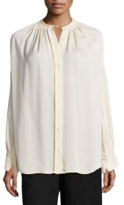 Shirred Silk Blouse $325 thestylecure.com