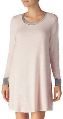 Kensie Faux Pearl Long Sleeve Sleep Shirt
