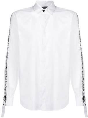 Just Cavalli leopard print contrast fitted shirt